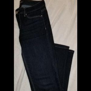 White House Black Market Blanc Bootcut Jeans sz 2